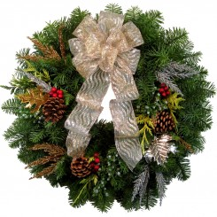beautiful christmas wreath yes - Christmas Decorations Online