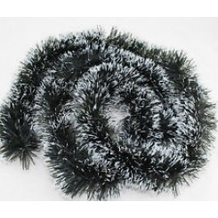 snow tipped tinsel garland pack of 5
