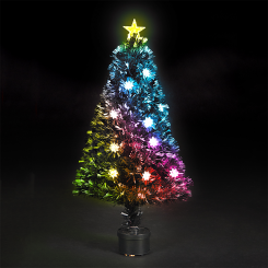 6 Feet Fiber Optic Artificial Christmas Tree