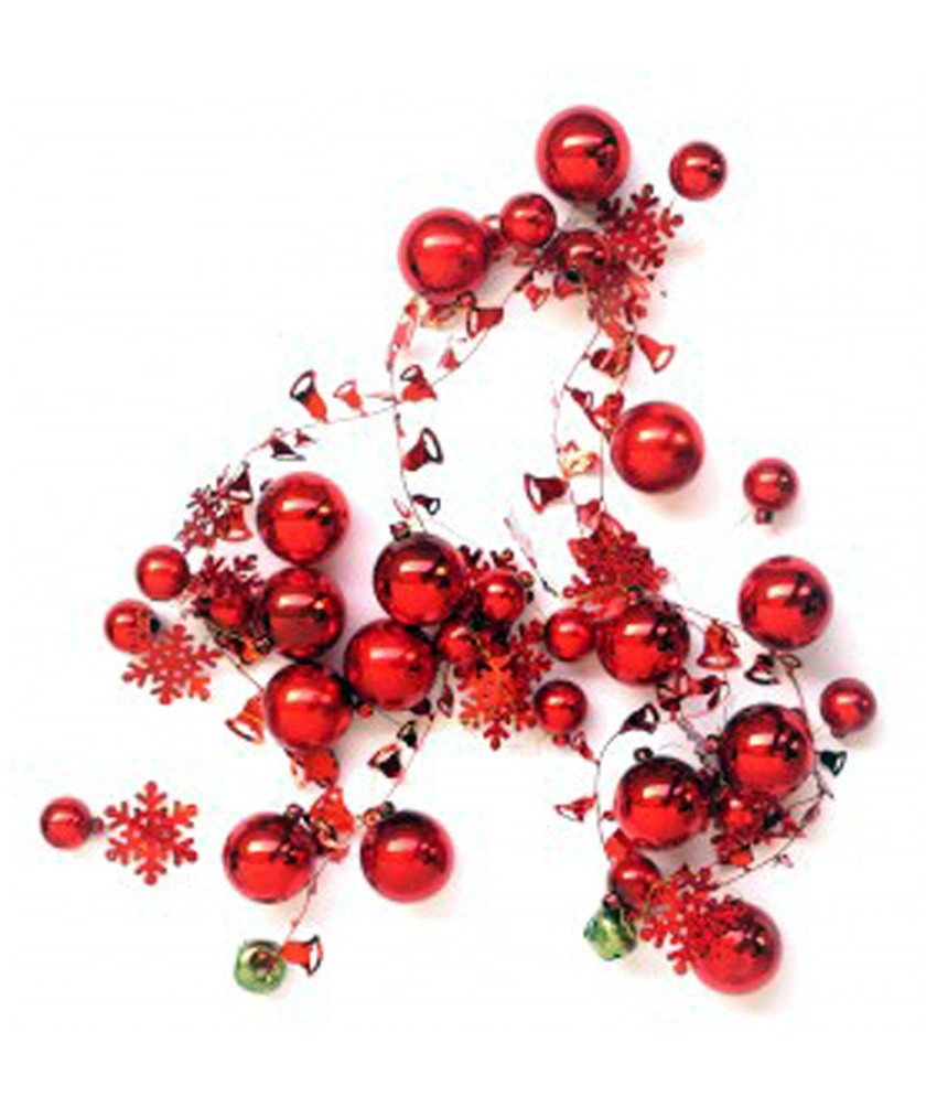 Red christmas decoration garland christmas garlands Garland tree decoration