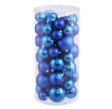 Multishape Blue Christmas Decorative Balls (Pack Of 20)